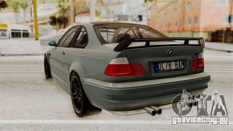 BMW M3 E46 GTR 2005 Stock для GTA San Andreas вид слева