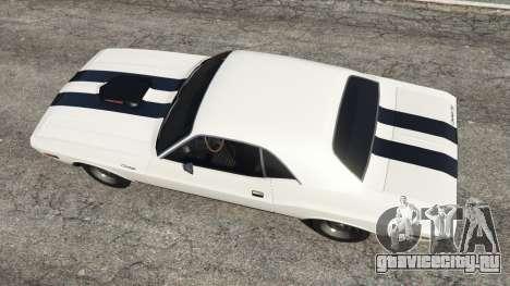 Dodge Challenger RT 440 1970 v1.0 для GTA 5 вид сзади
