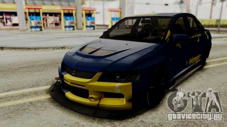 Mitsubishi Lancer Evolution IX MR 2006 для GTA San Andreas вид изнутри