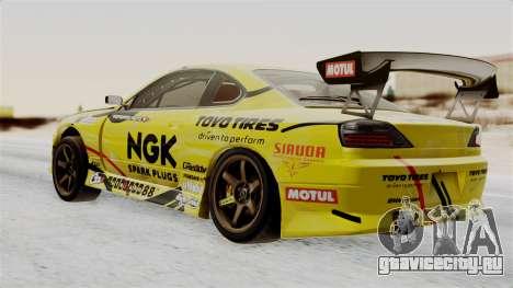Nissan Silvia S15 RDS NGK для GTA San Andreas вид слева