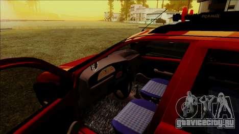 Fiat Palio EDX Turbo Performance для GTA San Andreas вид изнутри