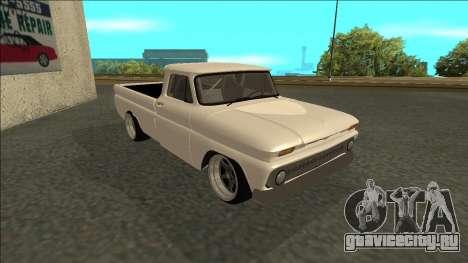 Chevrolet C10 Drift для GTA San Andreas вид сзади слева