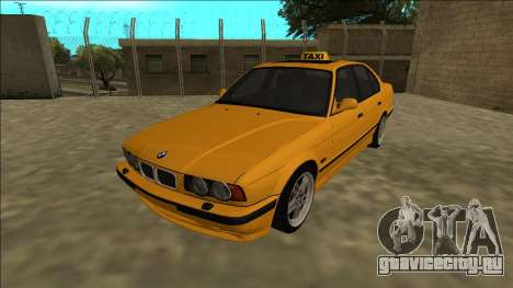 BMW M5 E34 Taxi для GTA San Andreas вид сзади слева
