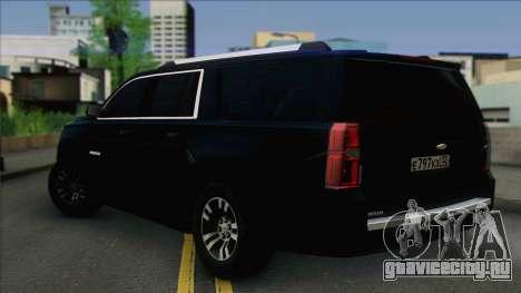 Chevrolet Suburban ФСБ для GTA San Andreas вид слева
