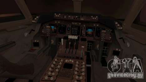 Boeing 747 Air France для GTA San Andreas вид изнутри
