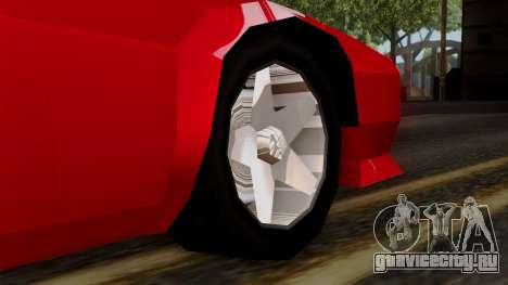 Cheetah from Vice City Stories для GTA San Andreas вид сзади слева