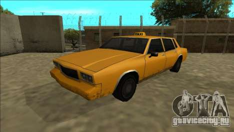 Tahoma Taxi для GTA San Andreas вид сзади слева