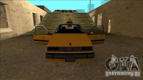 Willard Taxi для GTA San Andreas салон