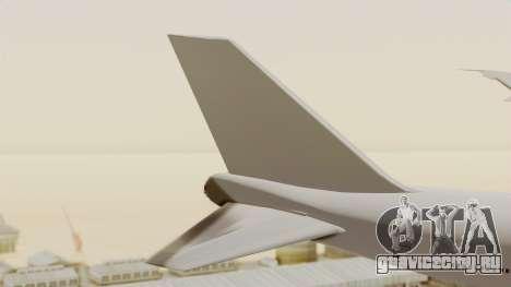 Boeing 747 Template для GTA San Andreas вид сзади слева