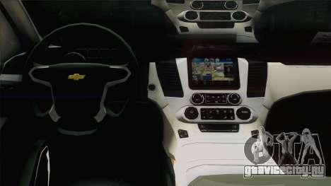Chevrolet Suburban ФСБ для GTA San Andreas вид изнутри