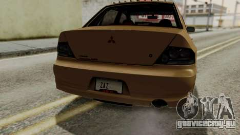 Mitsubishi Lancer Evolution IX MR 2006 для GTA San Andreas салон