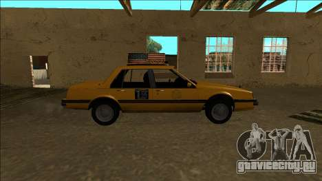 Willard Taxi для GTA San Andreas вид изнутри