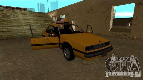 Willard Taxi для GTA San Andreas двигатель
