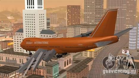 Boeing 747 Braniff для GTA San Andreas вид слева