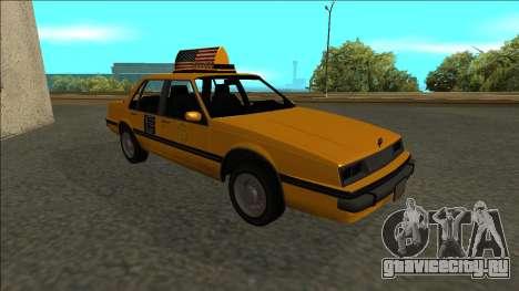 Willard Taxi для GTA San Andreas вид сбоку