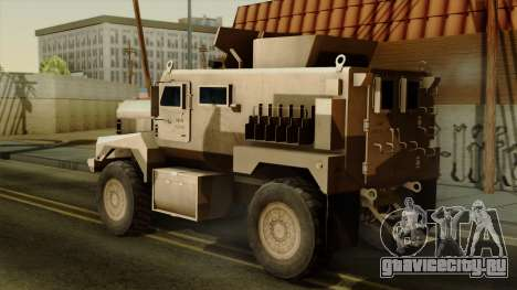 MRAP Cougar 4x4 для GTA San Andreas вид слева