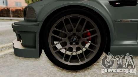 BMW M3 E46 GTR 2005 Stock для GTA San Andreas вид сзади слева