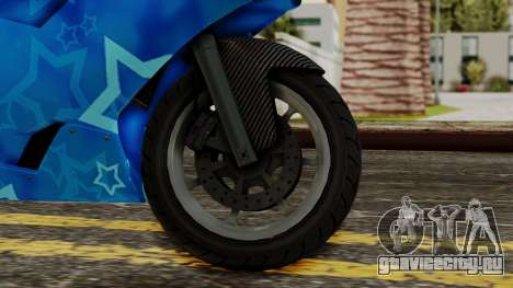 Bati VIP Star Motorcycle для GTA San Andreas вид сзади слева