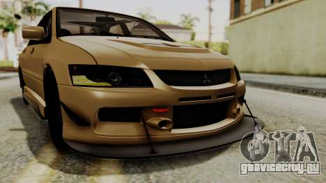Mitsubishi Lancer Evolution IX MR 2006 для GTA San Andreas вид снизу
