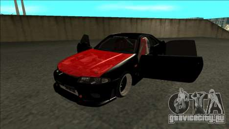 Ниссан Скайлайн Р33 Монстр Энергии для GTA San Andreas вид сзади