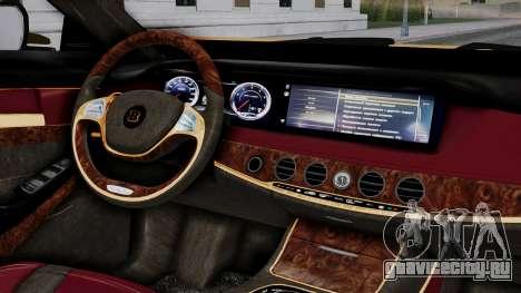 Brabus 850 Gold для GTA San Andreas вид справа