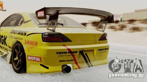 Nissan Silvia S15 RDS NGK для GTA San Andreas вид сзади