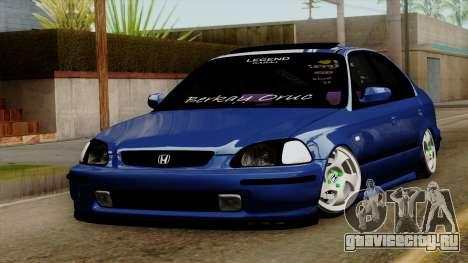 Honda Civic Sedan B.O. Yapım для GTA San Andreas