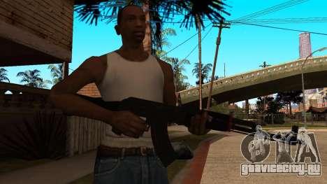 АК-47 Красная Линия из CS:GO для GTA San Andreas третий скриншот