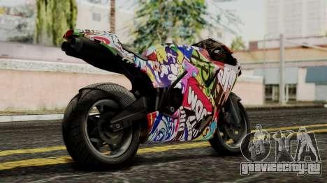 Bati Motorcycle JDM Edition для GTA San Andreas вид слева