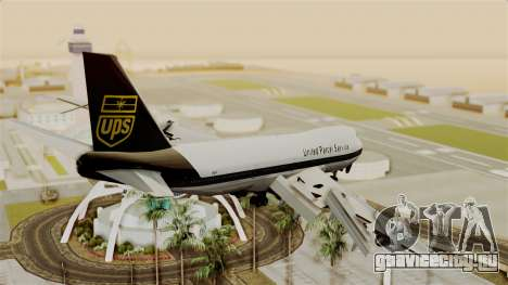 Boeing 747-100 UPS Old для GTA San Andreas вид слева