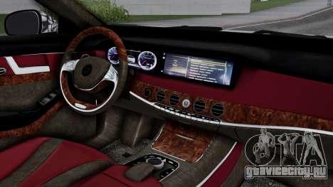 Brabus 850 Chrome для GTA San Andreas вид справа