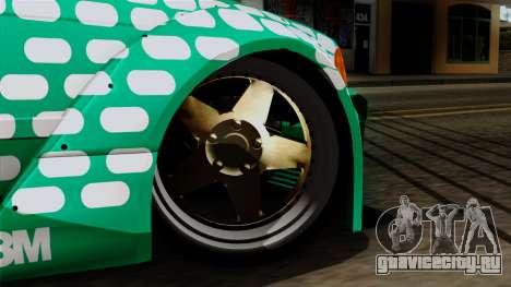 BMW M3 E36 Tic Tac для GTA San Andreas вид сзади слева