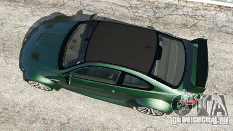 BMW M3 (E92) WideBody для GTA 5 вид сзади