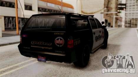 Sheriff Granger Police GTA 5 для GTA San Andreas вид слева