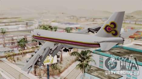 Boeing 747-200 Thai Airways для GTA San Andreas вид слева