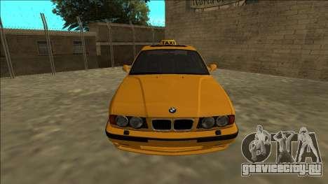 BMW M5 E34 Taxi для GTA San Andreas вид справа