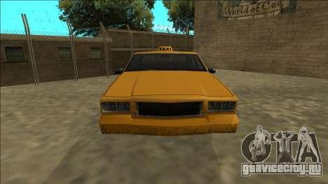 Tahoma Taxi для GTA San Andreas вид справа