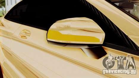 Brabus 850 Gold для GTA San Andreas вид сверху