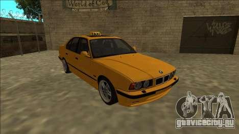 BMW M5 E34 Taxi для GTA San Andreas вид сзади
