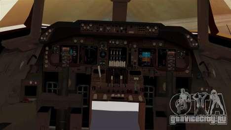Boeing 747-100 UPS Old для GTA San Andreas вид изнутри