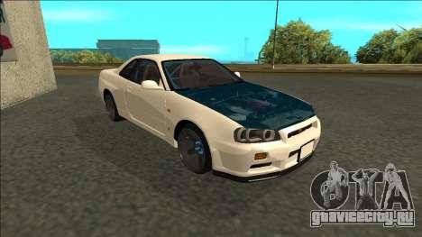 Nissan Skyline R34 Drift для GTA San Andreas вид слева