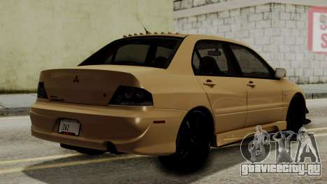 Mitsubishi Lancer Evolution IX MR 2006 для GTA San Andreas вид слева