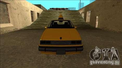 Willard Taxi для GTA San Andreas вид сверху