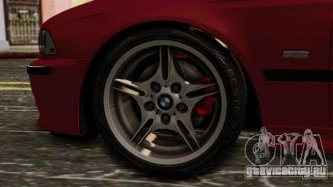 BMW 530D E39 2001 Mtech для GTA San Andreas вид сзади слева