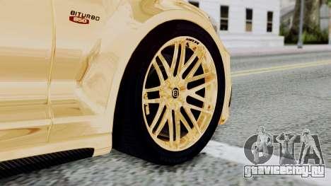 Brabus 850 Gold для GTA San Andreas вид сзади слева