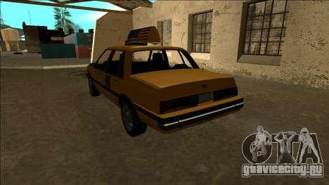 Willard Taxi для GTA San Andreas вид сзади слева