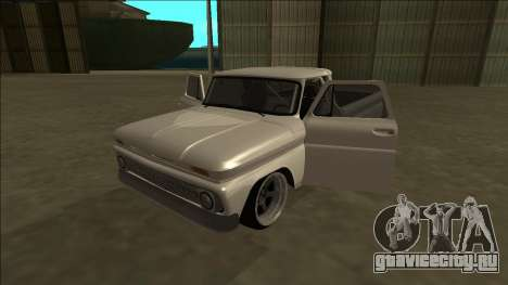 Chevrolet C10 Drift для GTA San Andreas вид изнутри