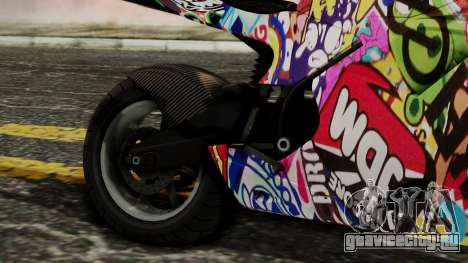 Bati Motorcycle JDM Edition для GTA San Andreas вид сзади