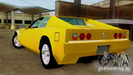 Cheetah from Vice City Stories IVF для GTA San Andreas вид слева