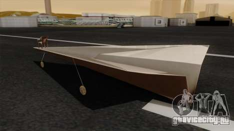 Бумажный самолетик для GTA San Andreas вид слева